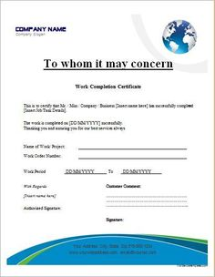 work completion certificate template for ms word certificate of completion template certificate design word