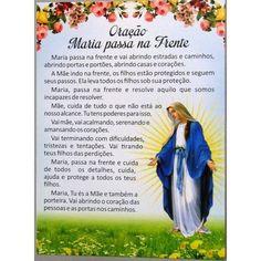 2564 - Postal - Oração Maria Passa Na Frente - Paz e Bem