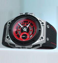 LINDE WERDELIN SpidoLite II Titanium Red Watch