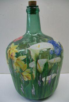 garrafas cristal decoradas - Google Search