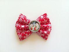 Mickey and Minnie Christmas Hair Bow