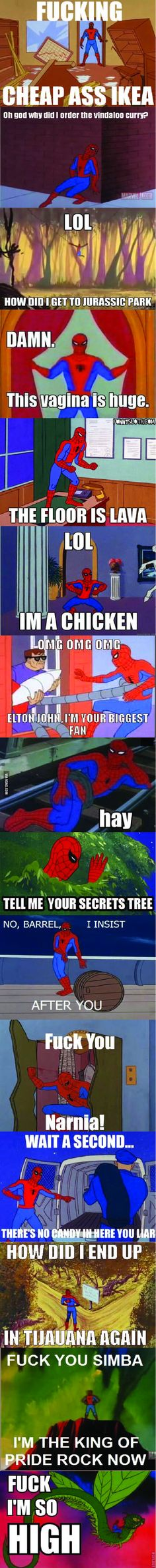 oh spiderman.