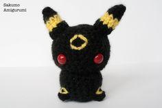 Umbreon - Pokemon- Amigurumi - Kawaii Plush - Pupazzi - Morbido - Uncinetto - Crochet di SakumoAmigurumi su Etsy
