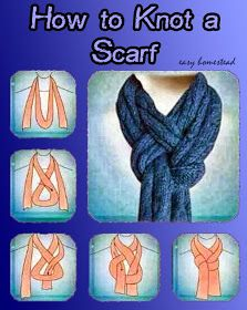 Astute Homestead: How to knot a Scarf
