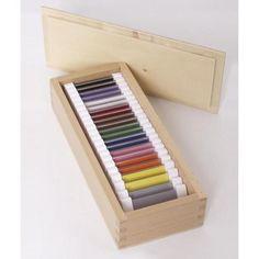 Farbtäfelchen, Kasten mit je zwei Täfelchen in elf Farben,Verinnerlichung der…
