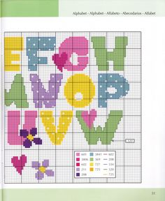 Block letter alphabet cross stitch TWO Cross Stitch Alphabet Patterns, Cross Stitch Letters, Cross Stitch Baby, Cross Stitch Designs, Stitch Patterns, Baby Embroidery, Cross Stitch Embroidery, Plastic Canvas Letters, Letter A Crafts