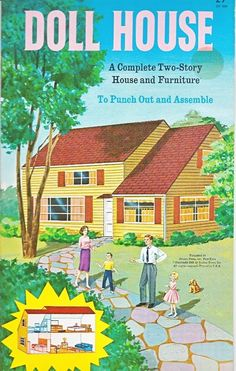 Doll House Two Story House Furniture Golden Funtime Punch Out Book 1962 Unused | eBay