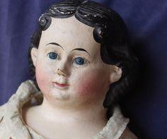 "Antique Greiner Doll - All Original - 28"" with Original Label 1858"