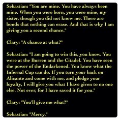 Sebastian Morgenstern and Clary Fairchild (City of Heavenly Fire by Cassandra Clare ~ The Mortal Instruments book 6) Quote