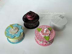 Trinket box made from a recycled ribbon spool