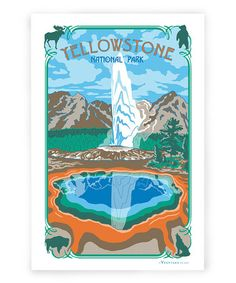 Take a look at this 'Yellowstone' Kitchen Towel by Vestiges on #zulily today! $12 !!