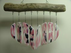 Crooked River Ranch Glass Art offers gorgeous wind chimes, glass pendants - imagining this with clay