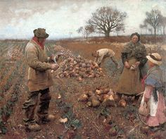 Clausen, George (1852-1944) - 1883 Winter Work (Tate Gallery, London) by RasMarley, via Flickr