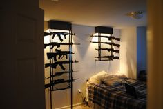 "WTF! AND THE COMMENT IS JUST AS BAD!!!    ""We need gun racks for the bedroom SO BAD, but most of the traditional ones aren't big enough, or they're super ugly."""