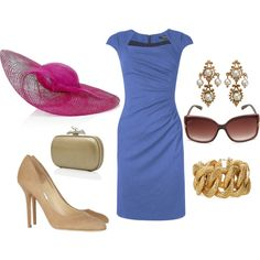 """""""Derby Day"""" by fiftynotfrumpy on Polyvore - like the dress"""