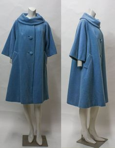 50s Coat // Lilli Ann 1950s Swing Coat // by hotcouturevintage, $188.00