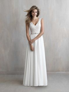 not sure if this looks bridal madison james wedding dress with lace bodice