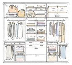 34 Ideas for bedroom wardrobe design layout master closet Wardrobe Design Bedroom, Master Bedroom Closet, Bedroom Wardrobe, Wardrobe Closet, Bedroom Cupboard Designs, Bedroom Cupboards, Interior Ikea, Paz Interior, Organizar Closet