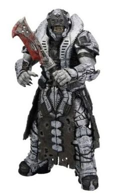 "Savage Theron #1 Gears of War 3 Jeu Vidéo 7/"" Action Figure Series 3 Neca 2012"