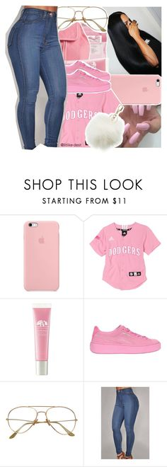 """Pink!"" by litlike-dest ❤ liked on Polyvore featuring Origins, Puma and Charlotte Russe"