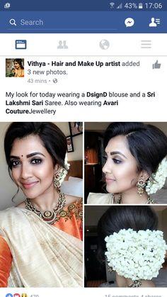 South Indian Wedding Hairstyles, Bridal Hairstyle Indian Wedding, Bridal Hair Buns, Bridal Hairdo, Indian Hairstyles, Saree Hairstyles, Bride Hairstyles, Hairdos, Hair Designs