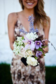 Wild flowers: http://www.stylemepretty.com/2013/05/08/park-city-wedding-from-honey-of-a-thousand-flowers/ | Photography: Jesse Erasmas