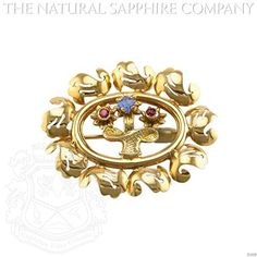 0.26ct. Natural Blue and Ruby Sapphrie Brooch (J1009) ** You can find out more details at the link of the image.