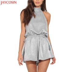 Women Backless Sexy Fashion Playsuit Ladies Jumpsuit Summer Beach Sexy Gray Rompers Playsuit Oct31. Yesterday's price: US $14.46 (11.93 EUR). Today's price: US $8.39 (6.90 EUR). Discount: 42%.
