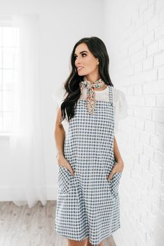 In the Clouds Overall Dress