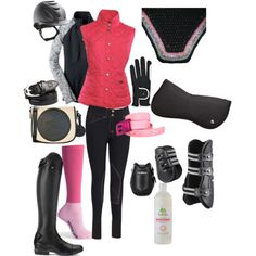 Pink schooling outfit by ivymyers on Polyvore featuring polyvore, fashion, style, Moving Comfort and Volant
