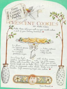 Crescent Cookies, Susan Branch for Country Living Magazine