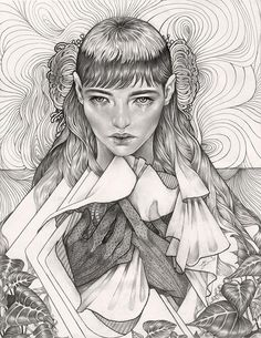 Martine Johanna's 'Indra', 2013. Graphite on paper - part of the 46 page 'Blanc Noir' special feature in #beautifulbizarre 007 - get your copy today via our Stockists http://beautifulbizarre.net/shop/stockists/ or buy online http://beautifulbizarre.net/shop/