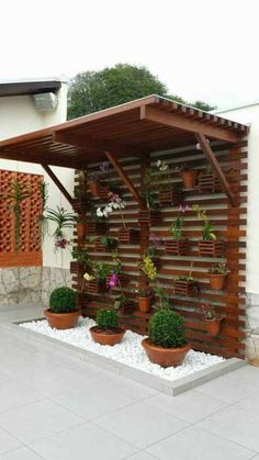 34 Ideas Modern Pergola Diy Landscaping For 2019 Small Patio Design, Vertical Garden Design, Backyard Patio Designs, Backyard Landscaping, Vertical Gardens, Backyard Pergola, Pergola Ideas, Patio Ideas, Terrace Ideas