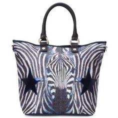 Handtasche Hopper The Zebra Face