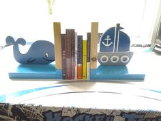 Bookends for childrens room Nautical bookend by BecksGeneralStore, $35.00