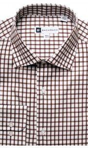 Knox Button Cuff Dress Shirt - Brown