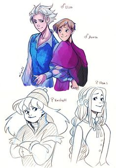 Frozen characters as the opposite gender!