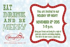 Join us November 12th for a fun evening of shopping, wine, and friendship! We can't wait to see you.