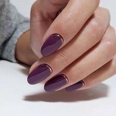 25 Stunning Minimalist Nail Art Designs - purple nails - Best Nail World Oval Nails, My Nails, Matte Nails, Long Nails, Gradient Nails, Holographic Nails, Prom Nails, Short Nails, Glitter Nails