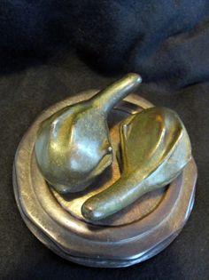 "Lost Wax Cast Bronze  ""Center Stage"" Gourd Sculpture  Modern Art Foundry, www.springgallerymaine.com, www.modernartfoundry.com"
