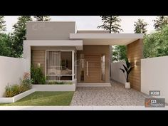 Modern Bungalow House Design, Modern Small House Design, Modern Minimalist House, Duplex House Design, Small Modern Home, Simple House Design, Small Modern House Exterior, Modern House Facades, House Construction Plan