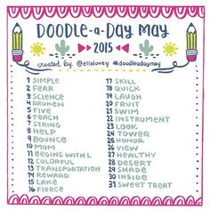 ...The May Doodle a Day list