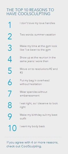 The TOP 10 Reasons to Have #CoolSculpting: