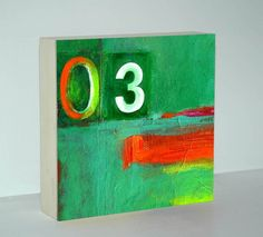 Green Abstract Painting  Abstract Painting  Wood by AbbyCreek on Etsy