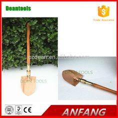 Non sparking beryllium copper universal shovel Y type wooden handle spark free shovel