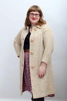 1960s vintage swing coat / modern US size 14 by HopscotchandSoda, $75.00