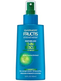 Moisture Lock Rescue Leave-In Spray by Garnier Fructis. Hair treatment for frizz control, heat protection, hair breakage, detangling and more. Coconut Oil Hair Growth, Coconut Oil Hair Mask, Natural Gel Nails, Natural Coconut Oil, Pyrus, Macadamia Oil, Frizz Control, Hair Breakage, Moisturize Hair