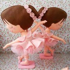 Ideal para decoração do quarto das nossas pequenas bailarinas...      Autoria no molde
