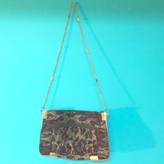 Vintage Purse / Clutch! Very Vintage \ Antique Styled Purse! Can Be Worn On Shoulder Or As A Clutch. Great Quality & Clean Inside & Out! No Damages. Bags Clutches & Wristlets