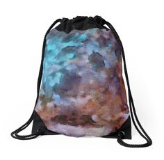"""""""Lilac-azure abstract art"""" Drawstring Bags by floraaplus   Redbubble"""